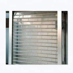 Low-cost crystal polycarbonate rolling door