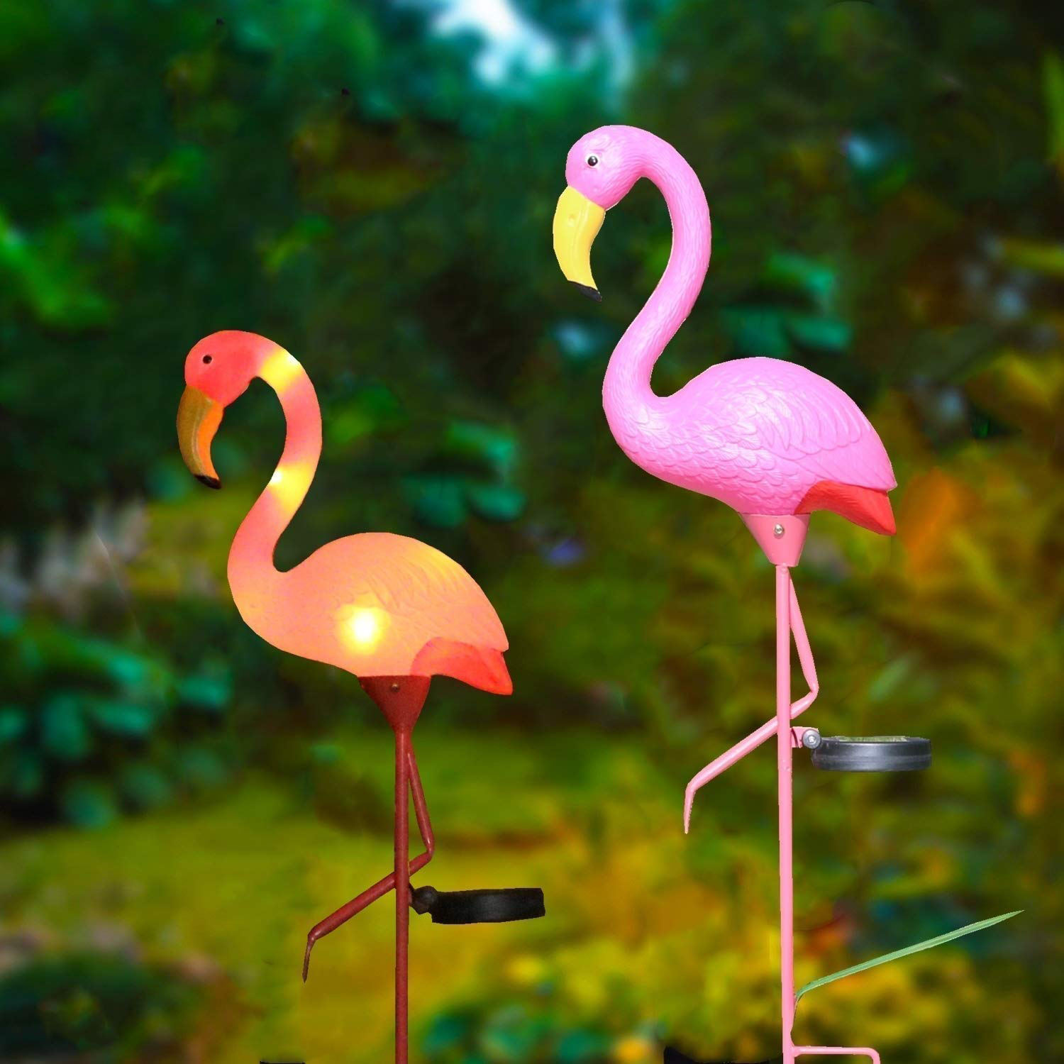Ouddoor Led Light Flamingo Set Garden Metal Wedding Decor