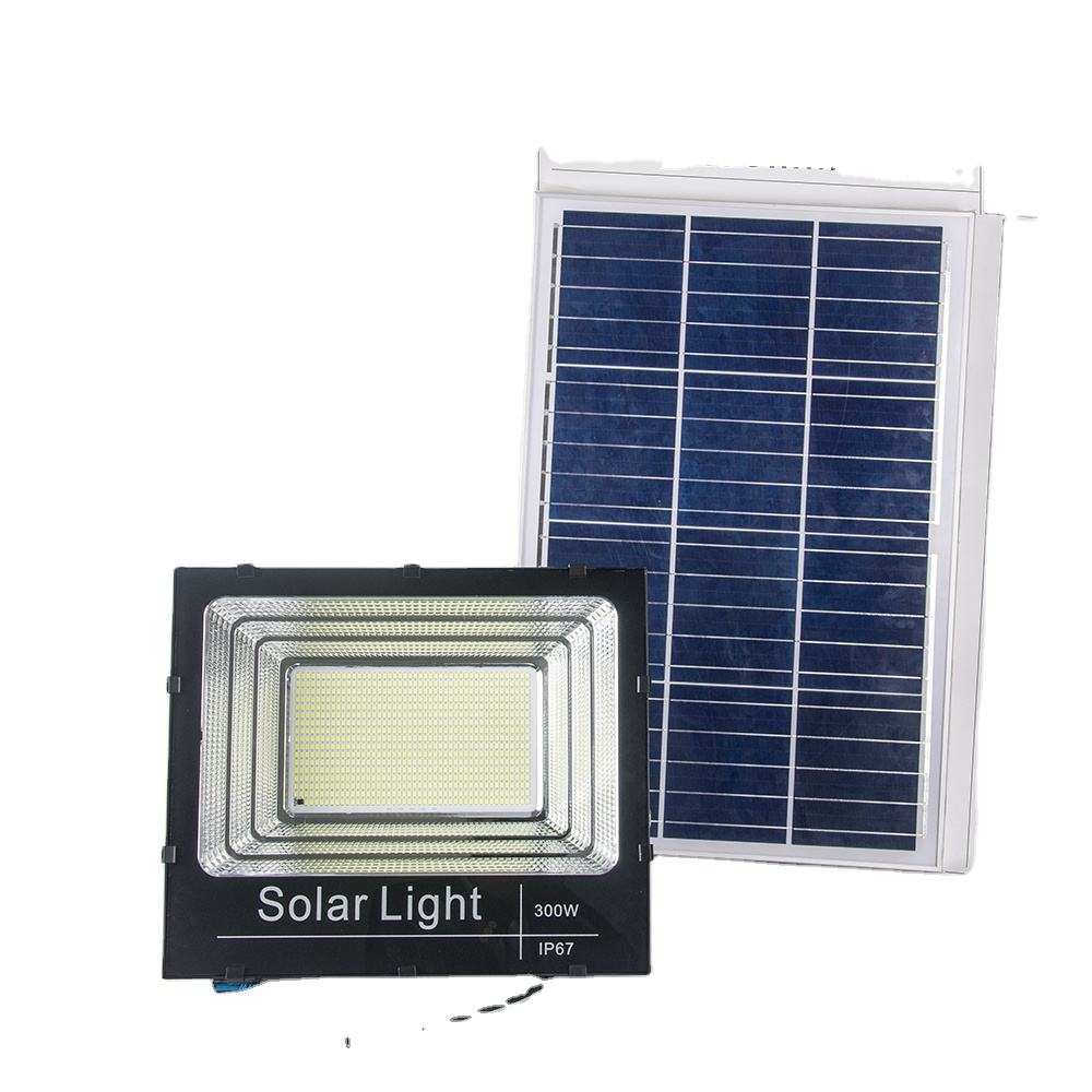 Solar Power Security Projector 40W 60W 100W 200W 300W Industrial Outdoor Billboard Reflector LED Solar Flood Light