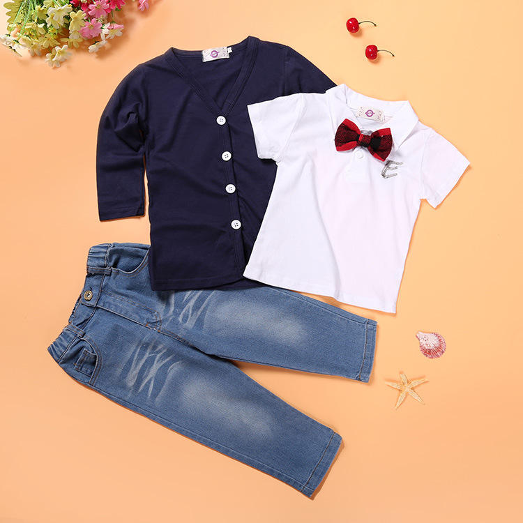 Cheap wholesale fashion boutique long sleeve chinese apparel fall children wear clothing toddler kids 1year boy clothes