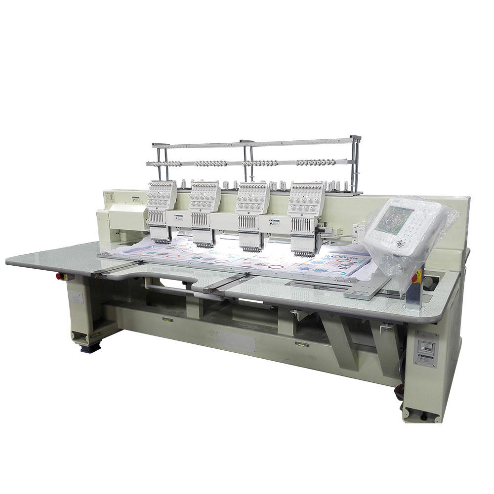 Best price operational security 4 heads flat embroidery machine with high accuracy