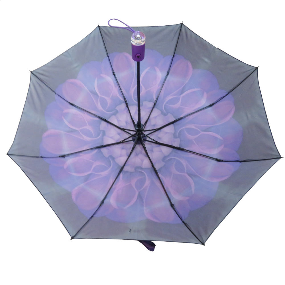Parasol Black Blossom Windproof Umbrella