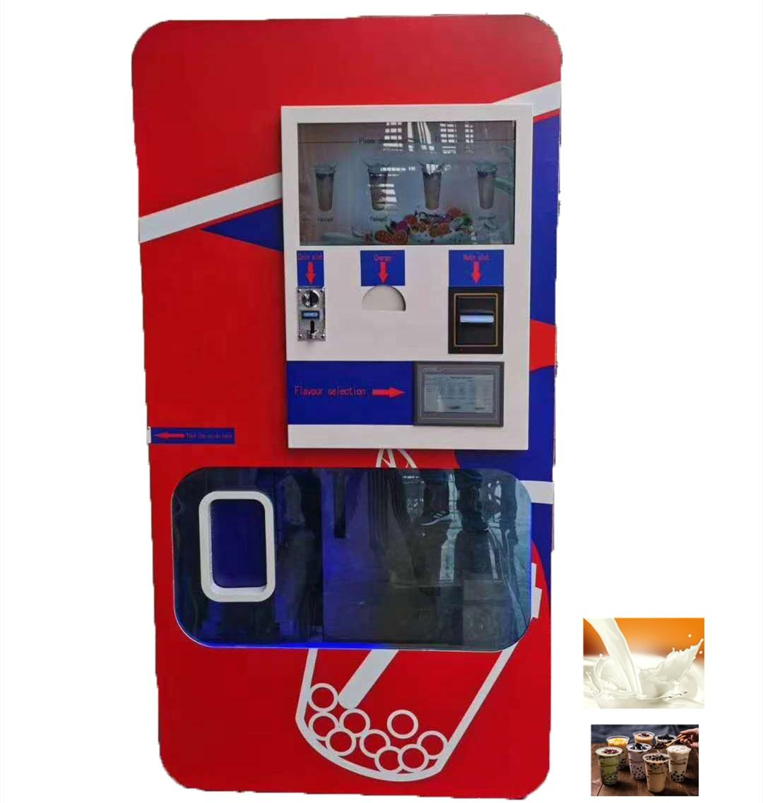 Robotics Arm Smart Milk Tea Coffee Vending Machine Indoor and Outdoor Vending