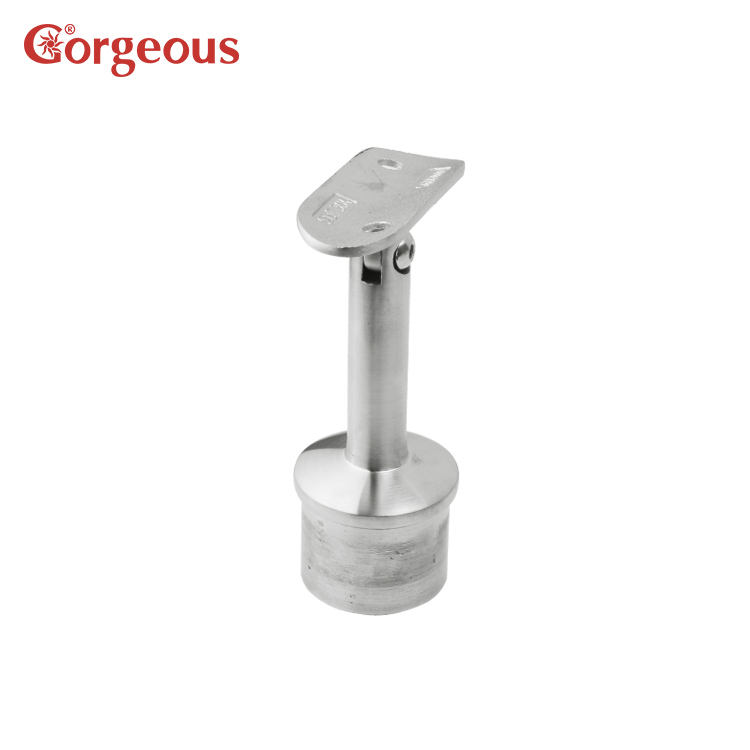 movable handrail support,stainless top mounted bracket,fence post mounting bracket