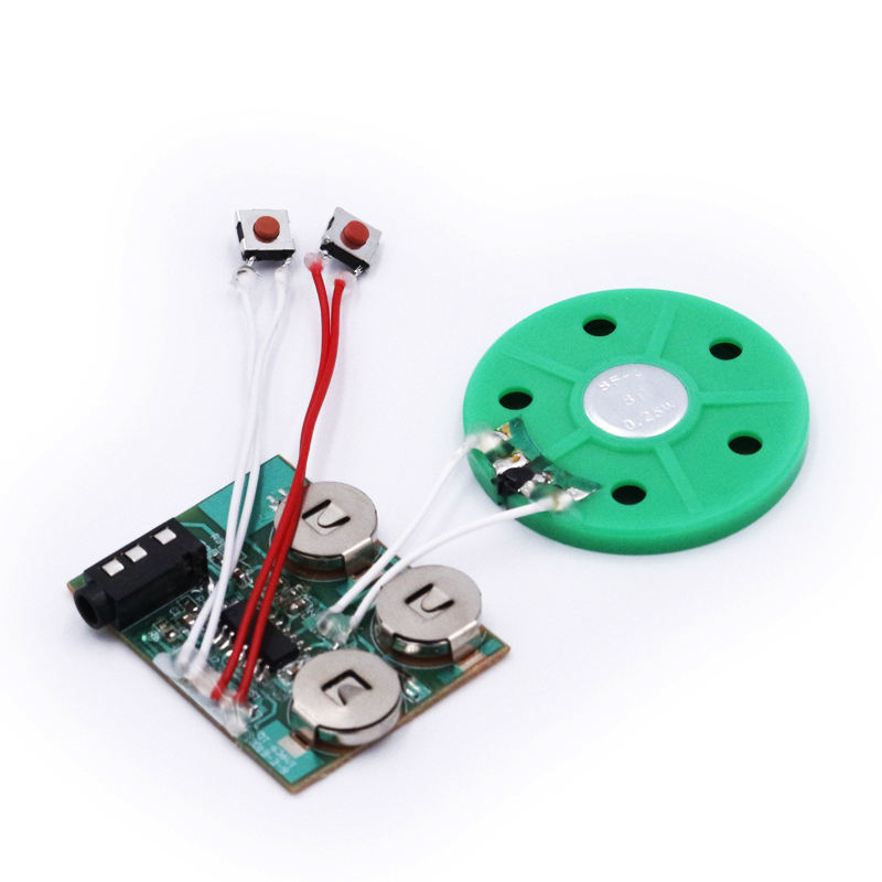 Easy self recording Aux insert music chip IC record module for greeting card DIY customized bulk