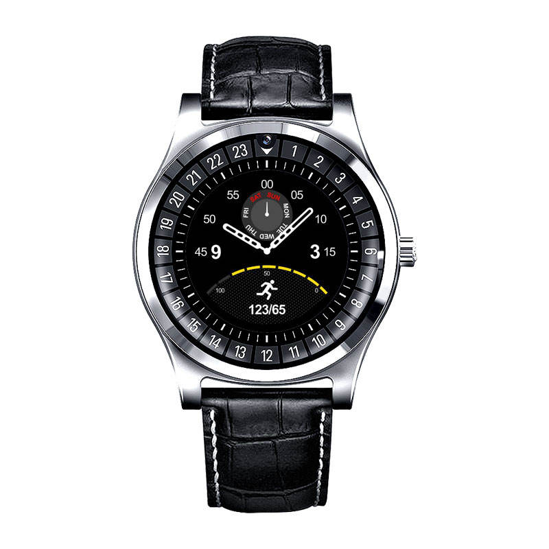 R68 Smart Watch Bluetooth Wristwatch Phone Leather Strap生活WaterproofためIOS IPhone Android Smartphone