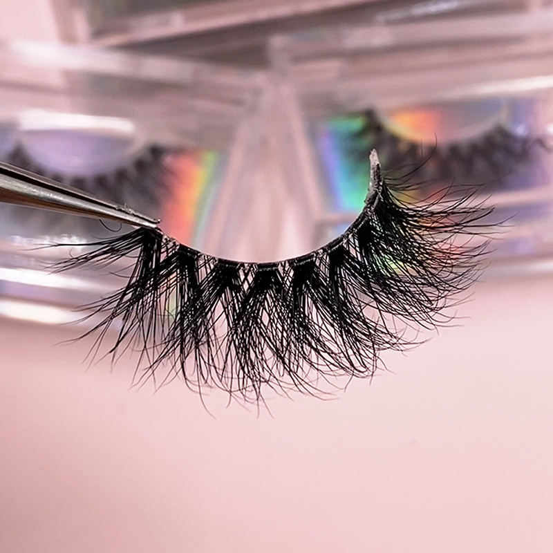 Free samples custom own brand wholesale natural 3d mink lashes vendor invisible clear band eyelashes