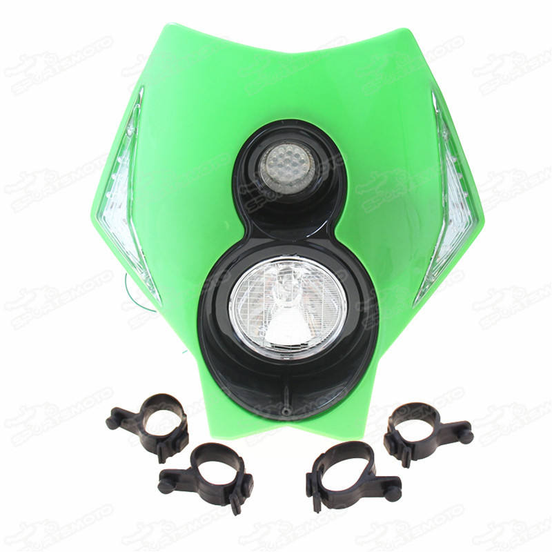 12V Motorcycle Head Lamp Light Koplamp Fit Rmz <span class=keywords><strong>Kx</strong></span> Sx Klx Wr Motocross-Enduro Supermoto Dirt Pit Bikes