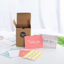 Eco-friendly custom  thank you cards new born baby greeting card with envelopes for wedding birthday