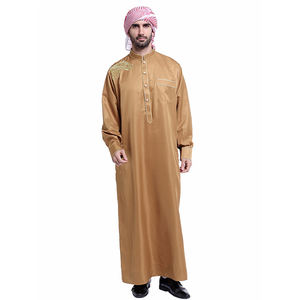 New style islamic muslim men robe arab loose thobe north america hot sale male clothing malaysia