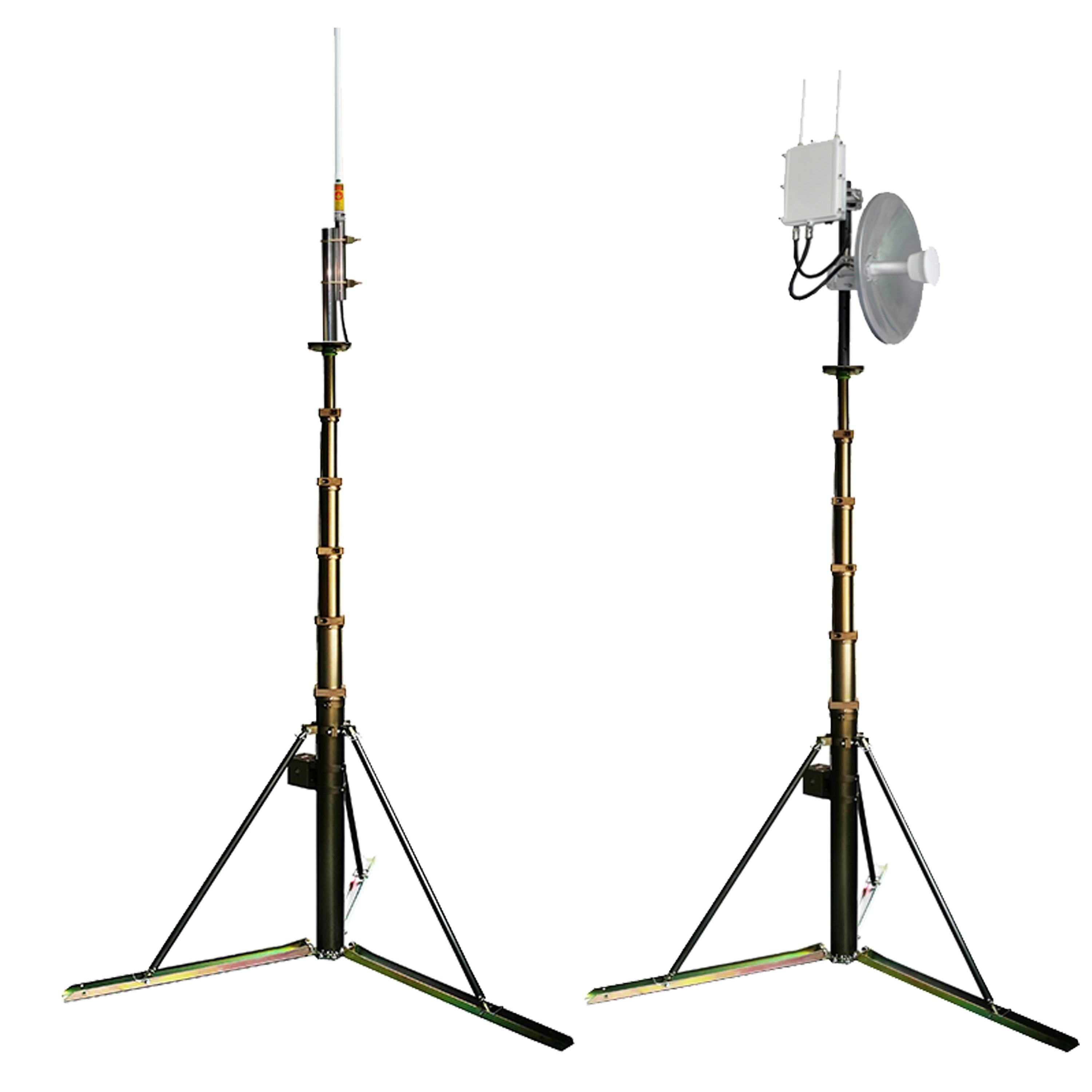 Portable 10m Aluminum Telescopic Antenna Mast Tripod Telescopic Mast Tower for Antenna
