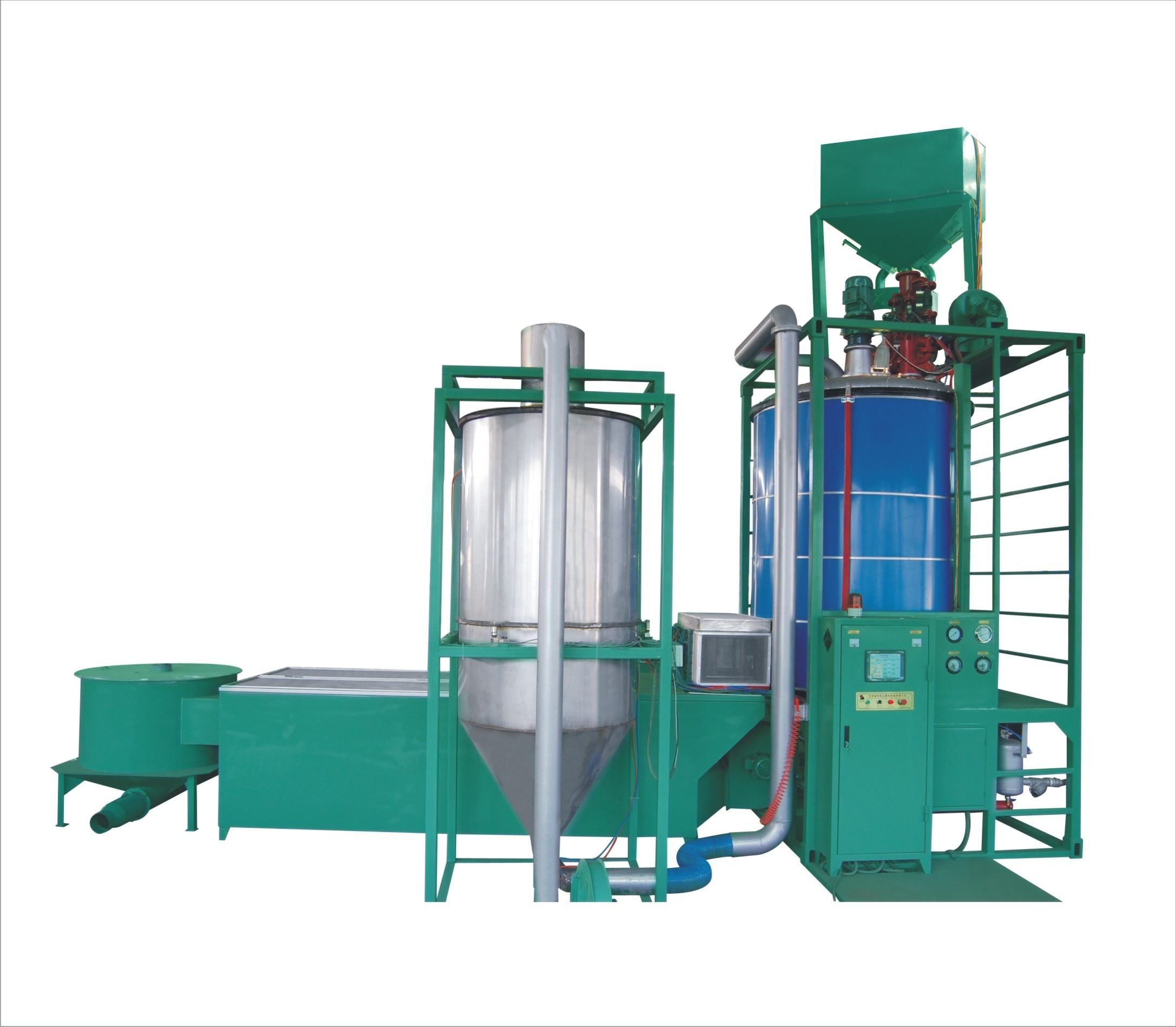 High efficient eps auto batch type pre expanders foam machine with fluidized drying beds