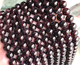 Natural Round Garnet stone loose beads strands for jewelry making wine red natural Garnet stones quality quartz stones
