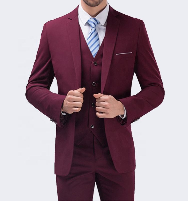 Ready to ship latest design groom wedding pictures men's coat pant designs wedding suit made in china