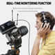 Microphone Dual Channel Wireless Lavalier Collar Microphone For Camera DSLR Smartphone IOS DV-500DUAL 2 Transmitters Aluminum Lithium