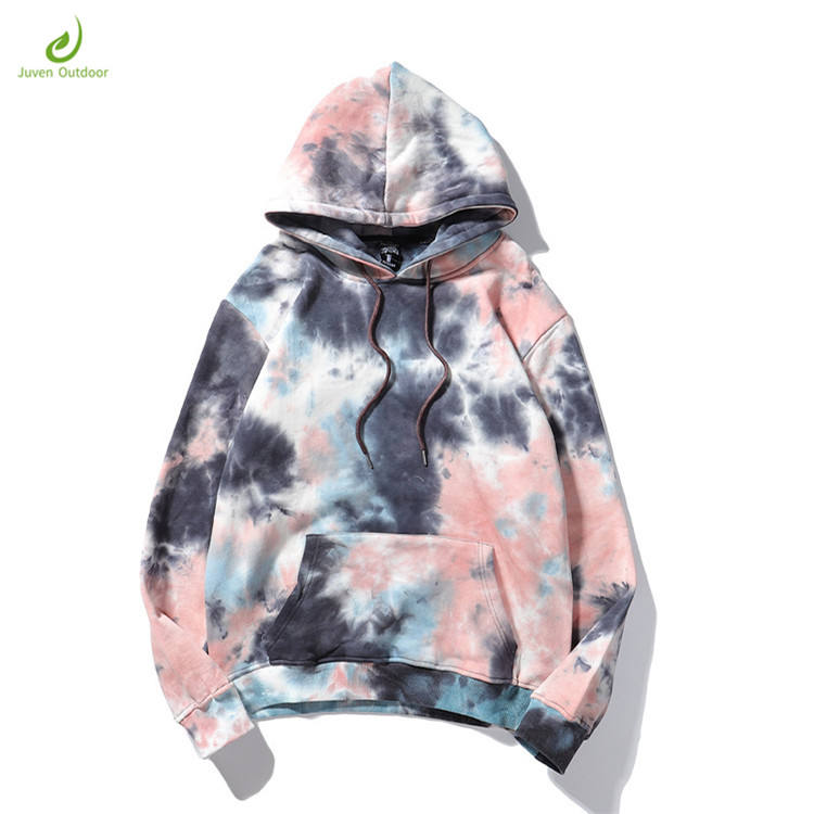 New design Wholesale high quality oversize pullover Tie-dye hoodie custom printing 100 cotton wholesale hoodie