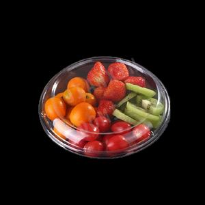 Disposable PET Biodegradable Lunch Fruit Salad Packaging Container Salad Plastic Box for salad with fork
