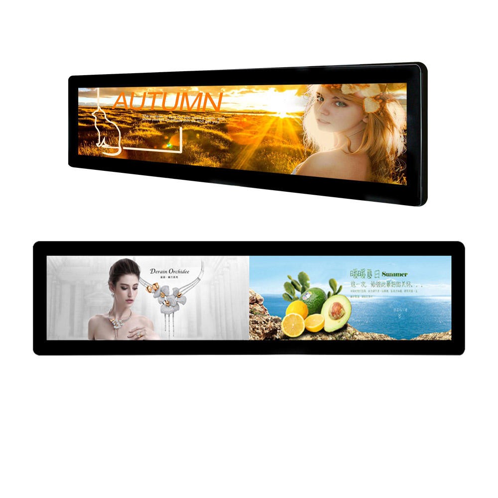 Wandmontage Uitgerekt Bar Icd Display Advertising Speler Kiosk Digital Signage En Displays Voor Cargo Rack Bus En Cosmetische