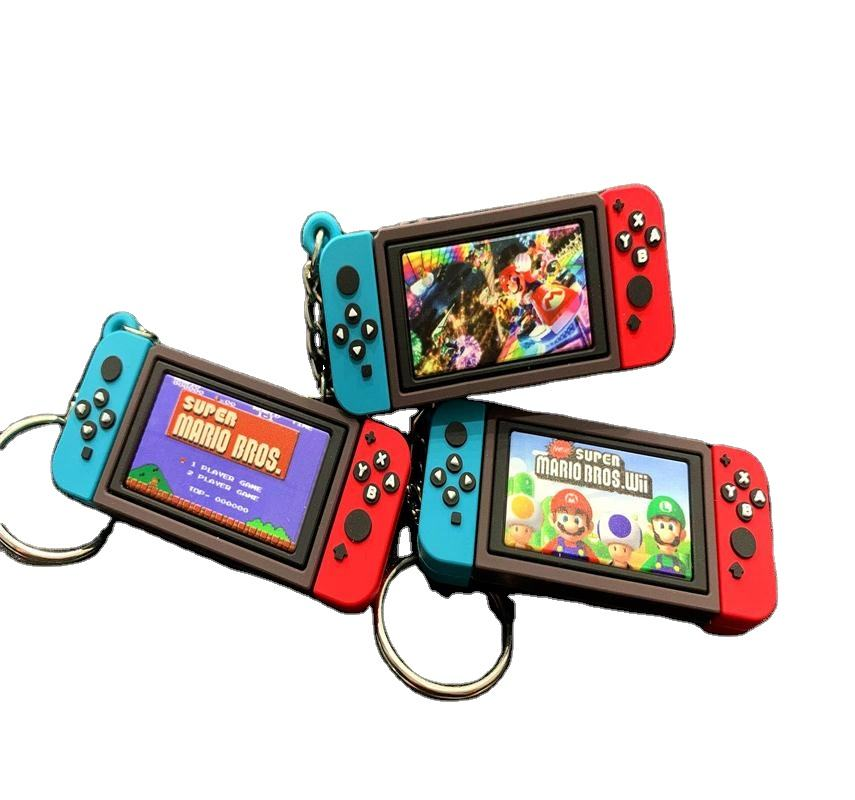 New Nintendo Game Console With The Switch Keychain Mario Game Peripheral Key Ring Fashion Charm Soft Rubber Pvc Keychains