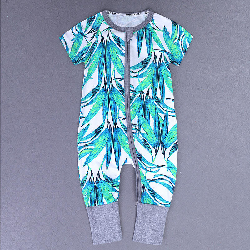High Quality Bodysuit New Born Sleep Wear Printed Korean Baby Girl Summer Rompers