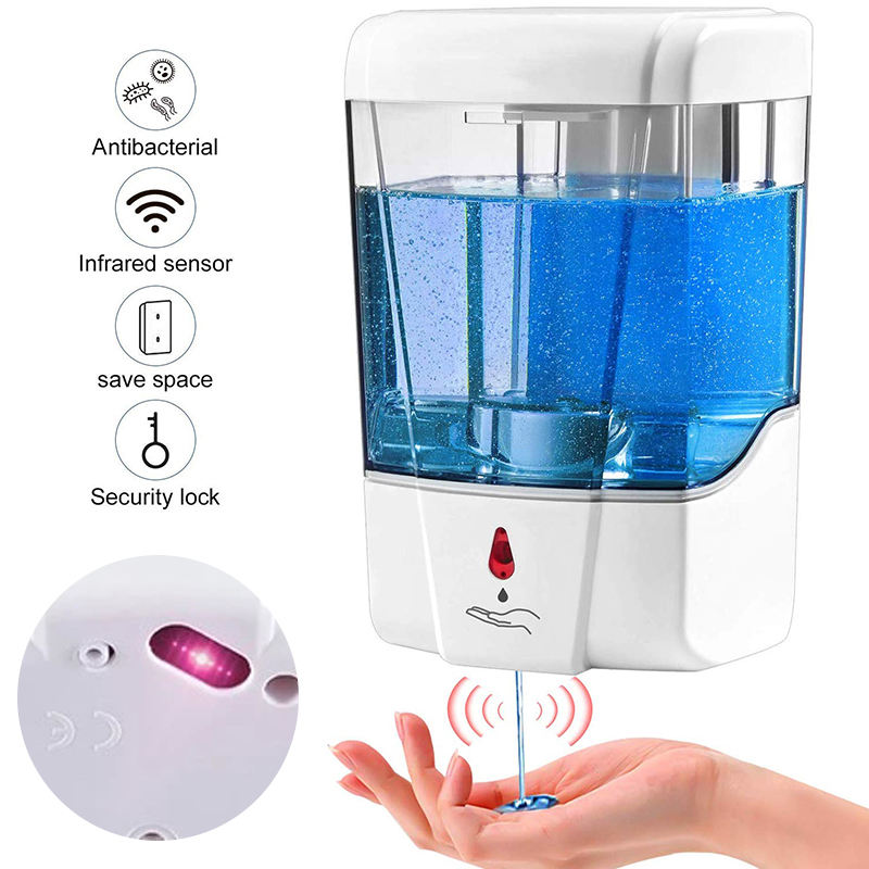 Blitzblue Touchless hand sanitizer gel liquid sensor automatic soap dispenser wall mounted alcohol spray dispenser
