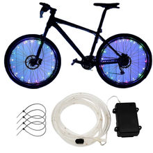 Waterproof Colorful Cycle LED Bicycle Car Spoke Light Bike Tire Accessories LED Bicycle Wheel Light