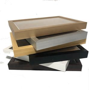 High quality custom 10X10 picture photo frame 3D Wood Shadow Box Frames Wholesale
