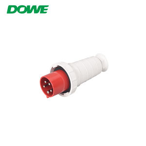 YUEQING DUWAI 63A 3P + E + N 415V IP66 impermeable Industrial rojo enchufes eléctricos