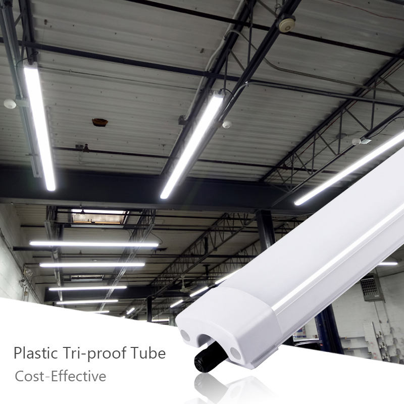 Subway Warehouse T8 Ip65 Ip66 2Ft 120Cm 1500Mm Industrial Waterproof Lamp Led Tri-Proof Tube Batten Fluorescent Light Fixtures
