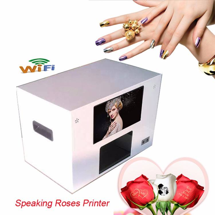 Nail Art Printer Flower Printer Digital Speaking Rose Printer Price