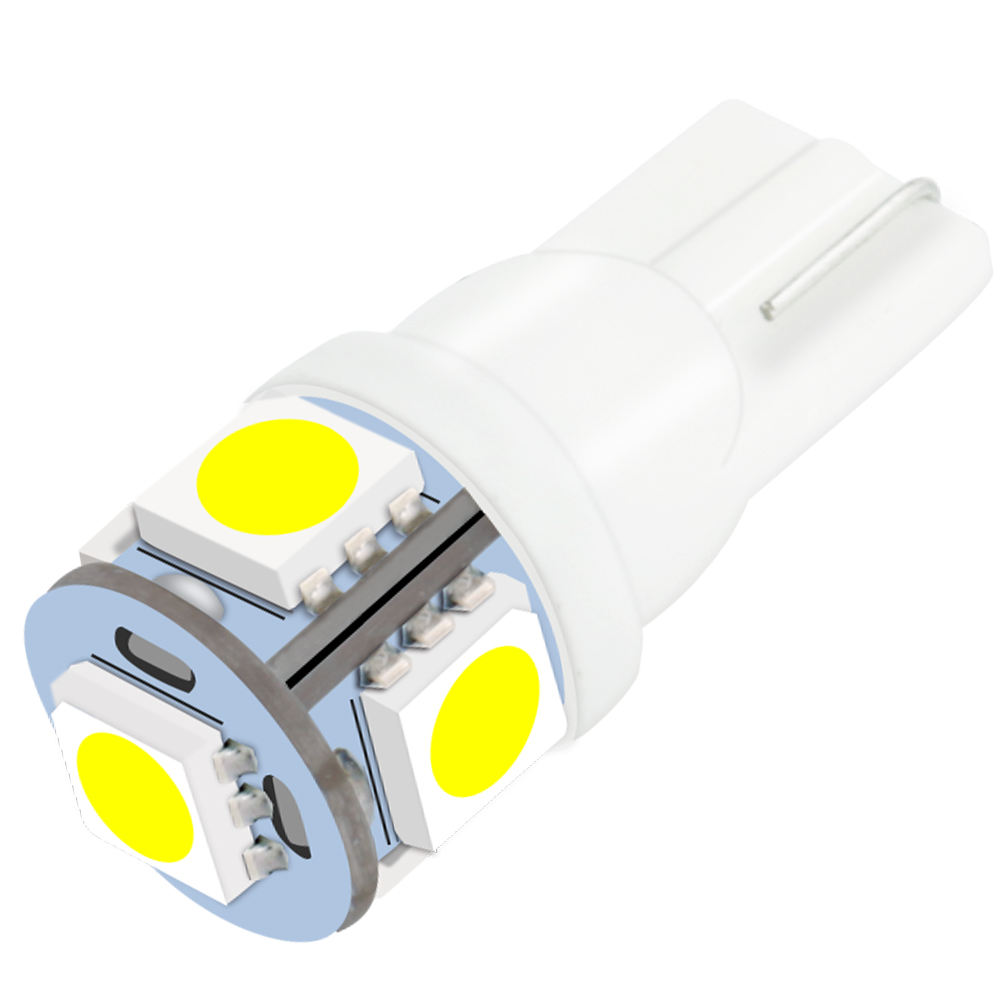 Wholesale T10 W5W CanbusLED Bulbs 5050 5SMD 194 168 White Wedge Interior Side Clearance Light Interior Lamp Car-Styling ZL151