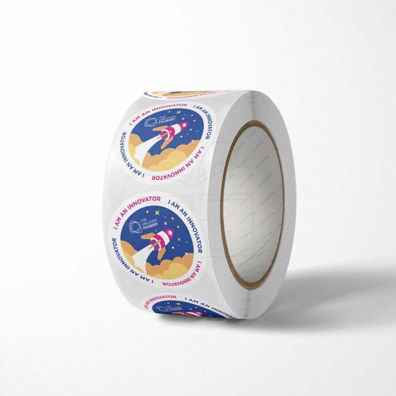 Paper Sealing Label Digital Camera Printed E Liquid Packaging Silk Screened Hot Melt Adhesive Vinyl Glossy Round Roll Product