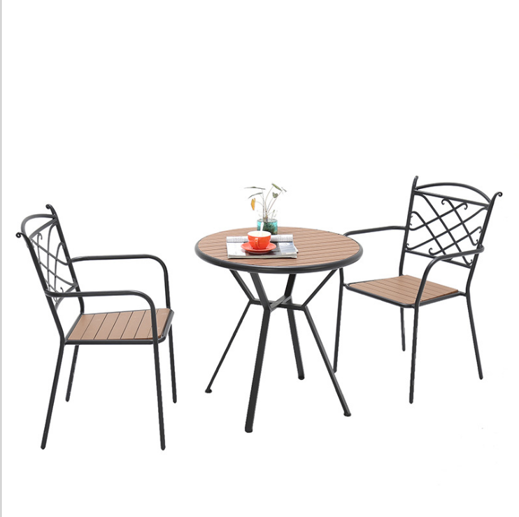 hot Dining Room Furniture classic patio sets outdoor garden furniture malaysian wood dining table sets with metal legs