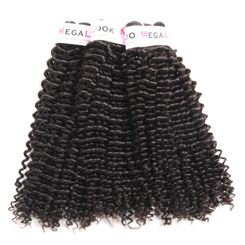 MEGALOOK Grade 10 Bundles 100 Pure Virgin High Premium Quality Afro Kinky Curly Brazilian Human Hair