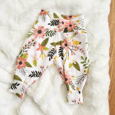 Hot Selling Baby Boys Girls Floral Deer Bottom Pants Leggings Harem Pants Trousers Casual 0-2T Christmas Baby Clothing
