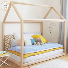 Installable wooden house kids bed for children room