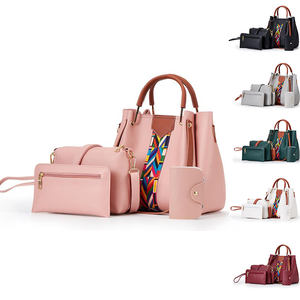 Cheap Price Custom 4 Pieces Set Bag-in-bag Large Capacity Women Luxury PU Leather Shoulder Hand Bags
