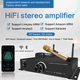 home power amplifier Hi-Fi Wifi 2.4G & 5G bluetooth Vinyl MM optical input Stereo Karaoke audio amplifier with bluetooth