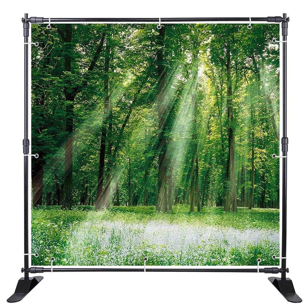 8*10ft Thick Tube Trade Show Telescope Backdrop Display Stand/ Stage Decoration Backdrop Backwall Standee