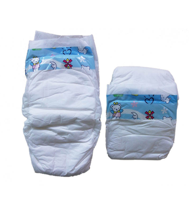 Cheap 3D leak guards lot stock grade B adult baby diaper in china