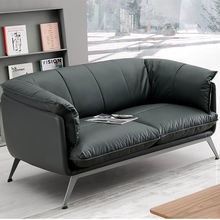 modern office sofa set pu leather SF191 1+1+3 sofa for office reception and office waiting sofa