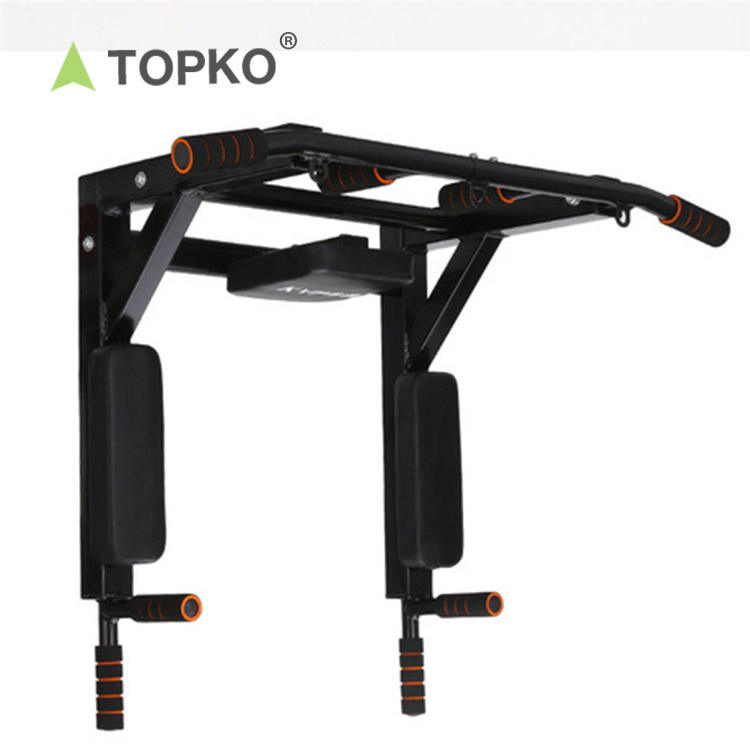 TOPKO Wholesale new design C steel foam gym wall mounted pull up bar