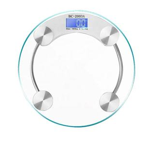 180KG Round Glass Electronic Balance Digital Body Weight Scale Body Personal Scale