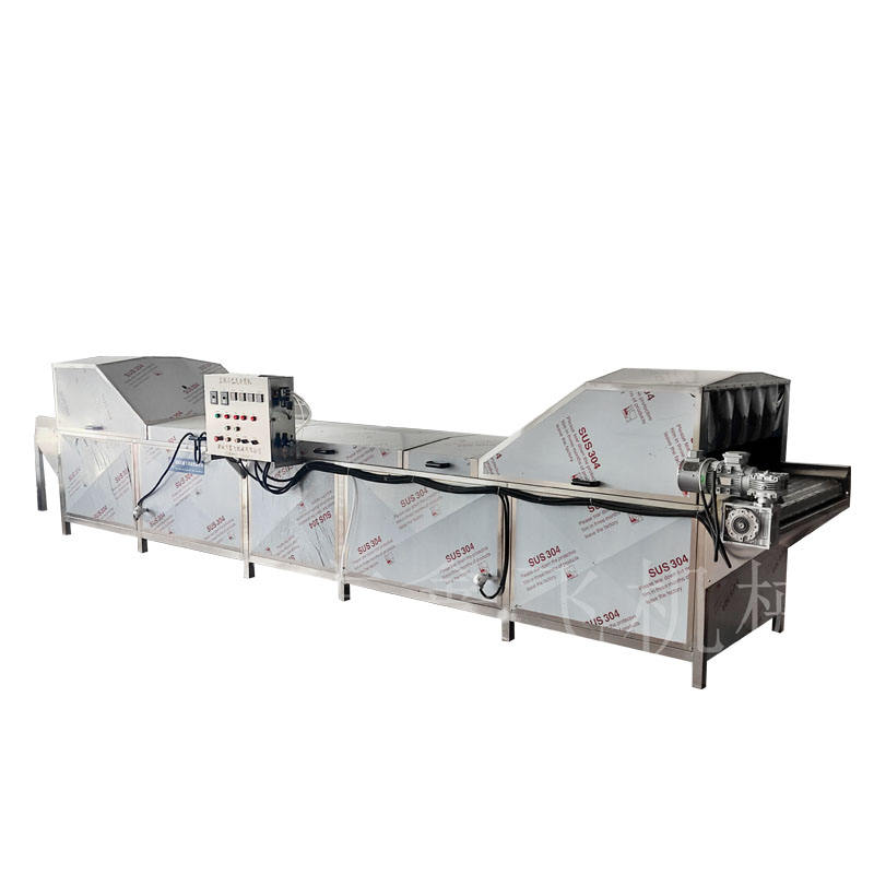Quality and quantity assured fruit food blanching machine