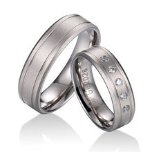High grade pure titanium mens ring wedding couple jewelry band rings