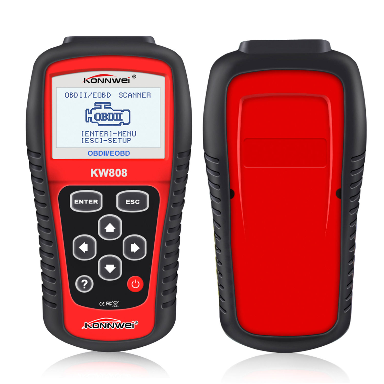Promotion! Portable 12V car engine tester KONNWEI KW808 diagnostic tool auto land with 2.8 inches screen