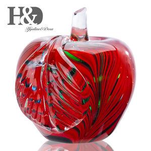 SogYupk Glaze Crystal Apple Paperweight Craft Decoration Red