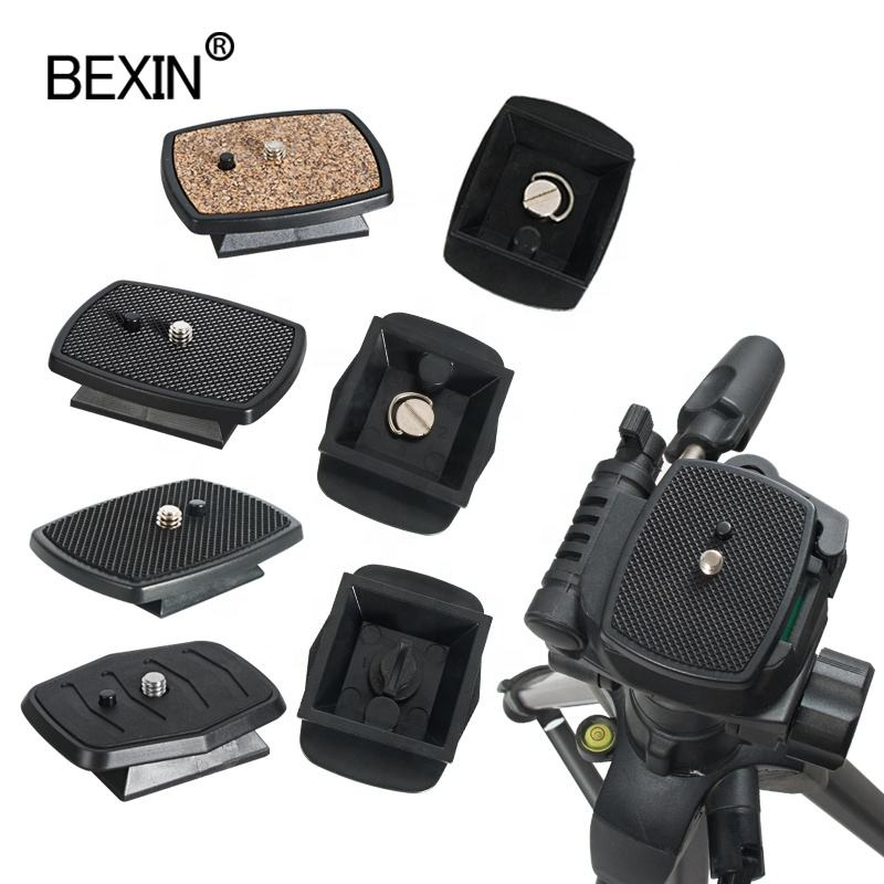 BEXIN Top selling product Universal Quick Released Mount Tripod monopod head quick release plate for yunteng 660 690 668 800