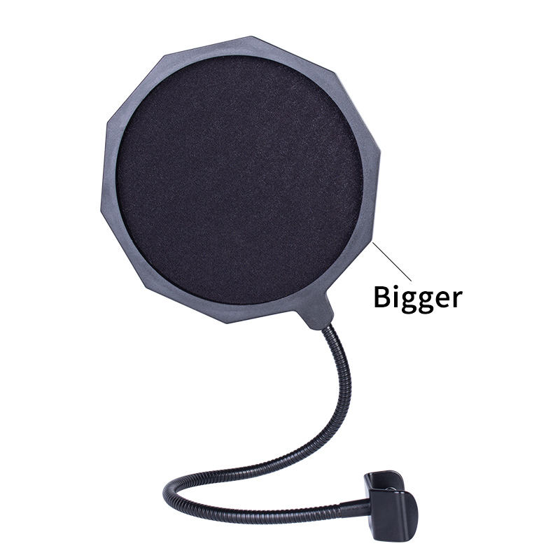 Quality professional big size flexible gooseneck microphone pop filter for studio microphone