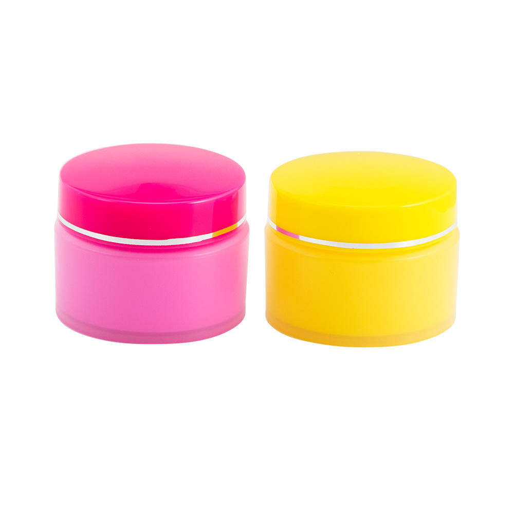 10g ready stock pink yellow Container Cosmetic Cream Pot Plastic Cosmetic cream Jar empty cosmetic jar pot for lip balm